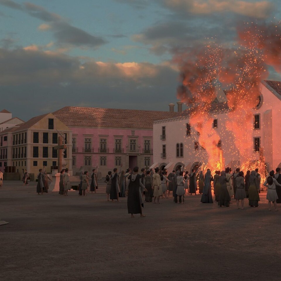 Rossio Square in Lisbon. I've been responsible for the characters in the scene. modelling, clothing and rigging.