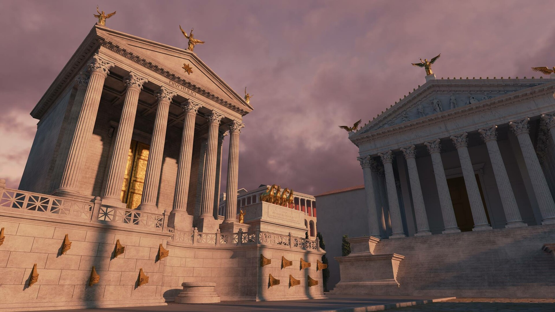 Roman Forum - Responsible for all the statues in the buildings - Modelling, rigging and posing.