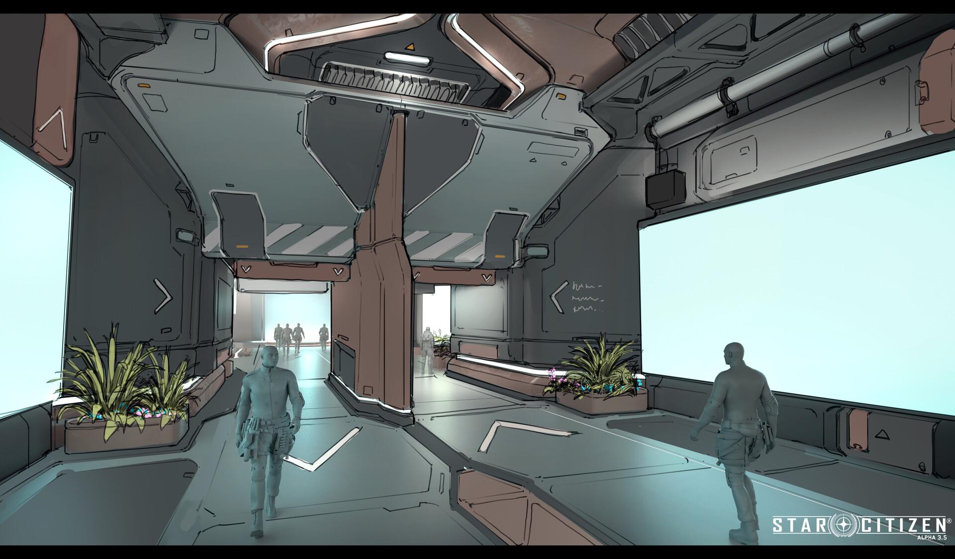 space port interior variation