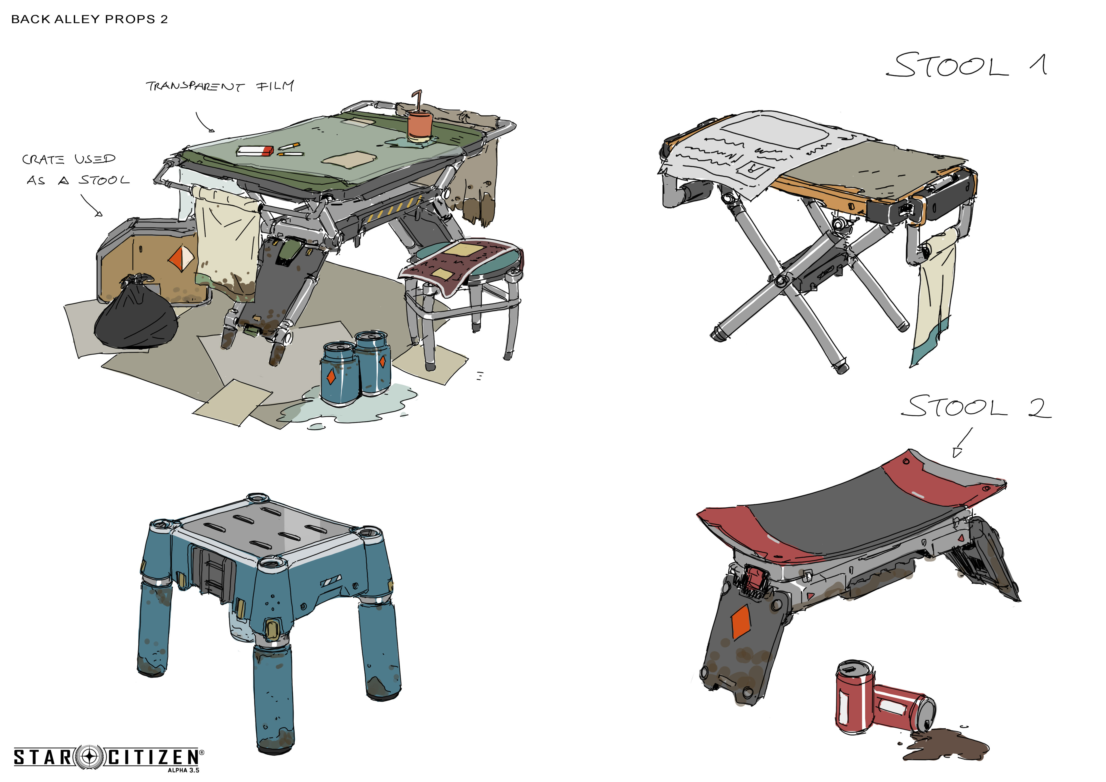 stools and tables
