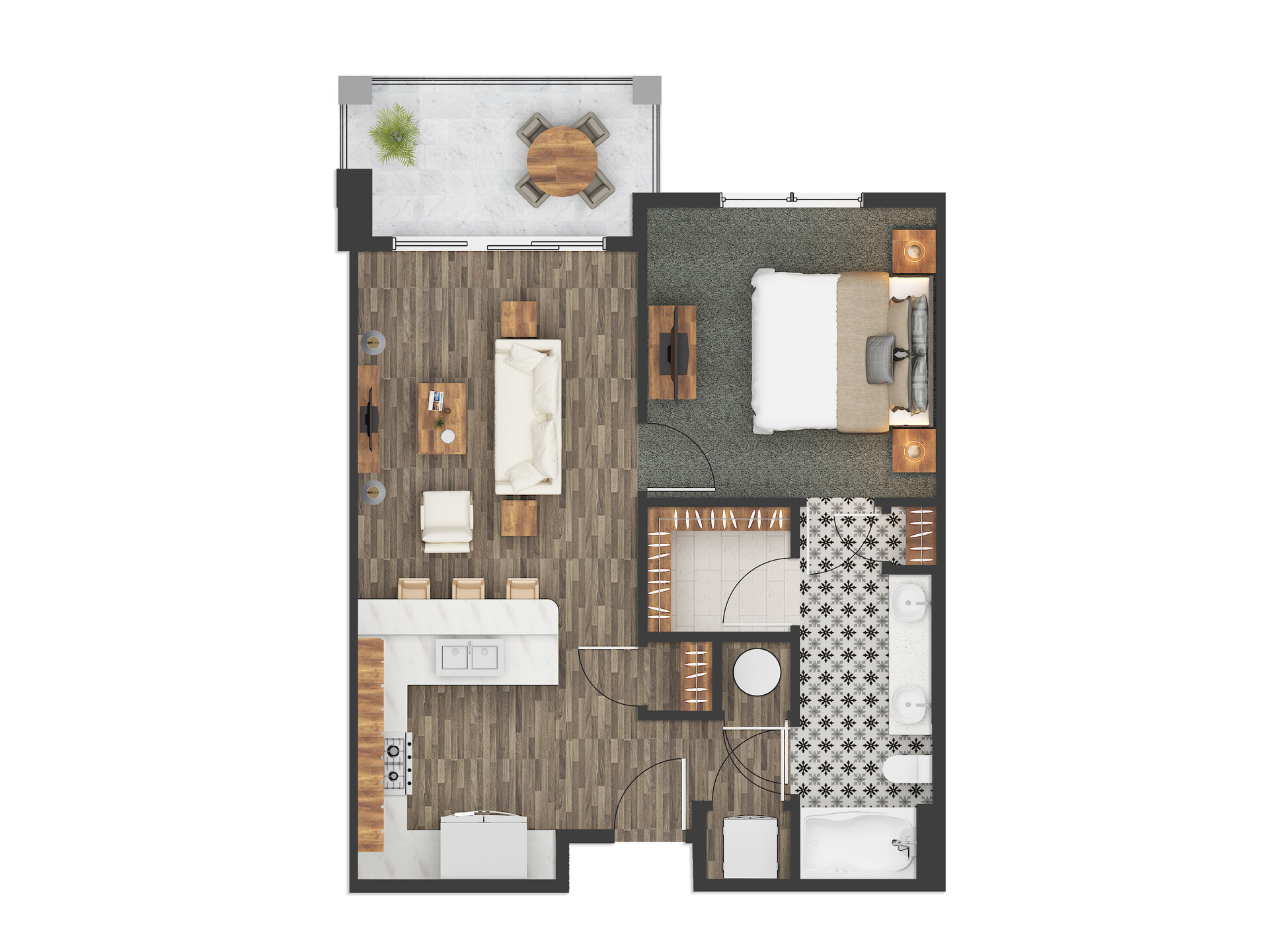 Jmsd Consultant Color Floor Plan Rendering For Austin Texas