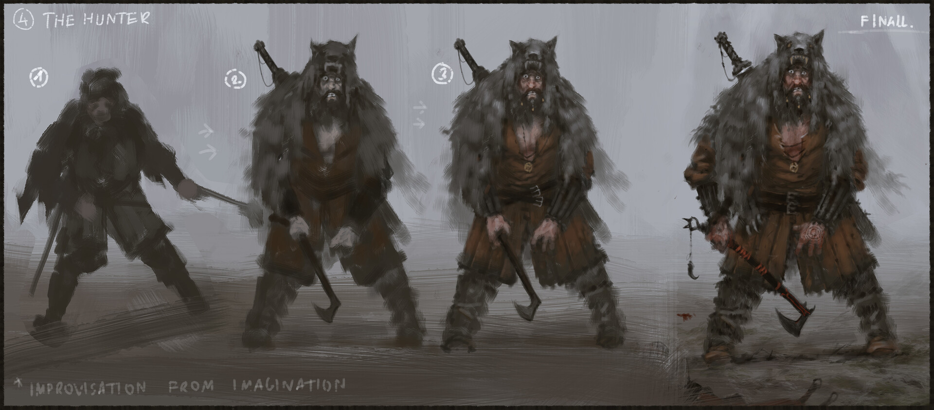 Jakub rozalski something in the mist process01