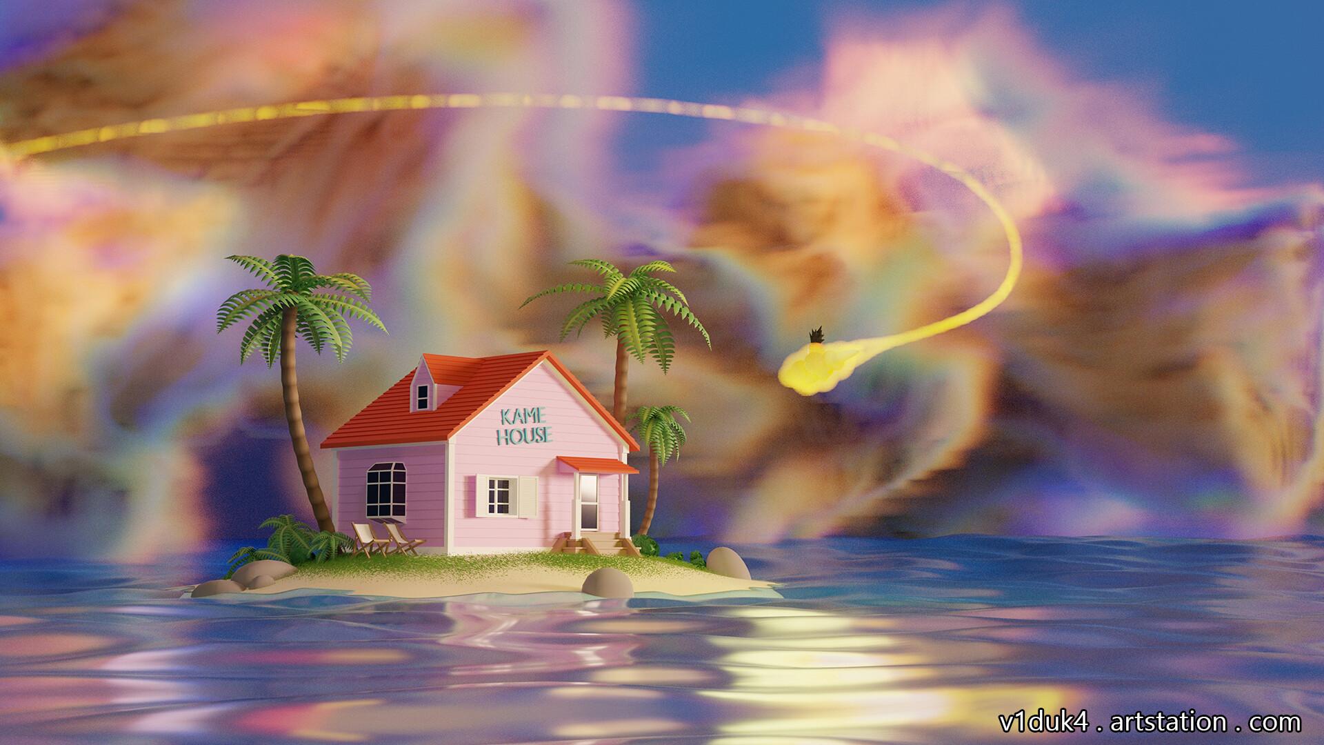 ArtStation - Dragon Ball : Kame House 3D, Daniel SG