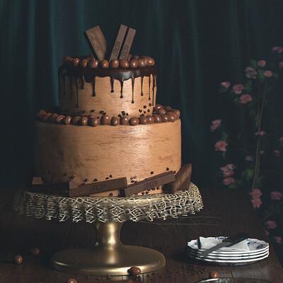 Veda prashanth kitkat nutties cake ps01
