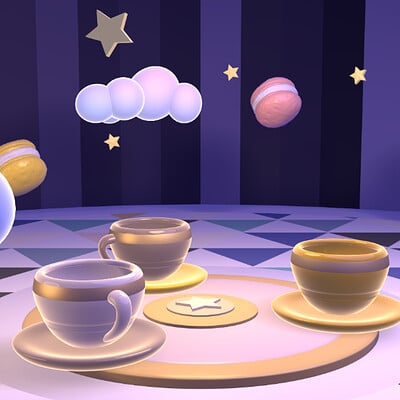 Judy kao artstation magic teacup ride 0908ss