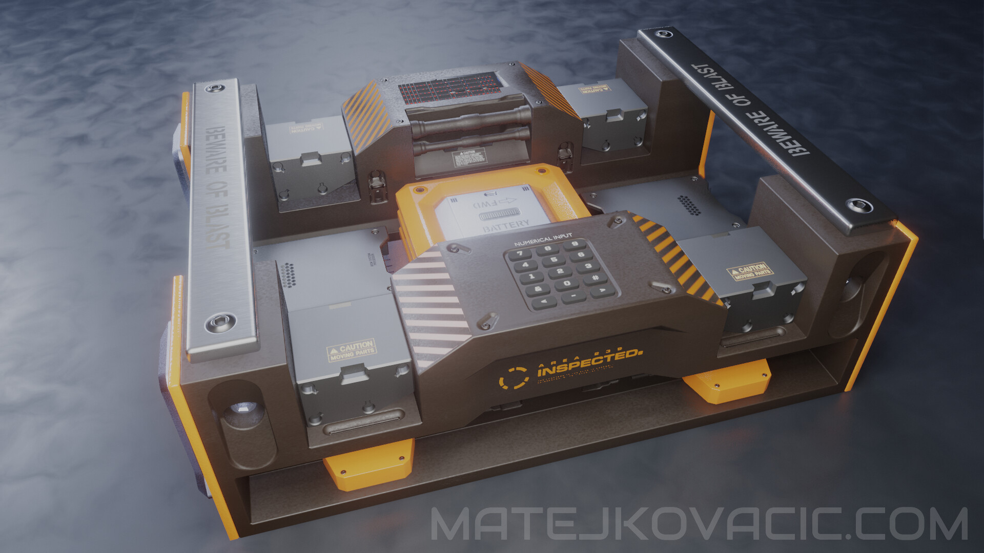 Quantum Laptop - Hard Surface Concept Art