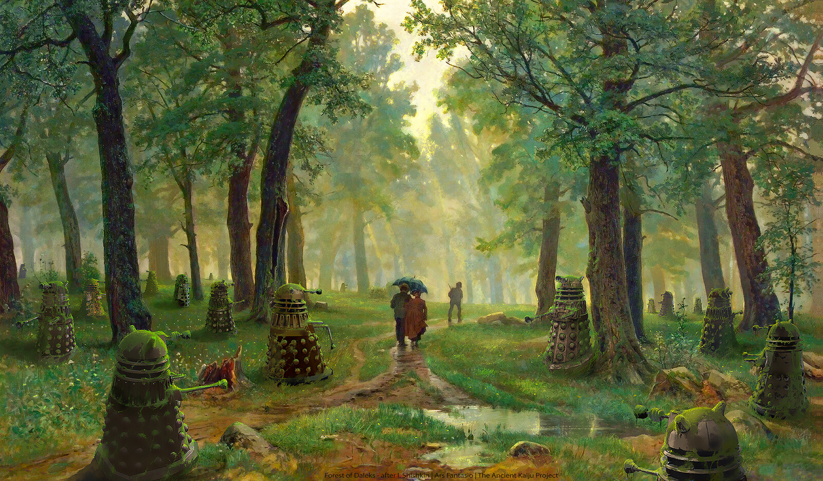 Forest of Daleks after Shishkin