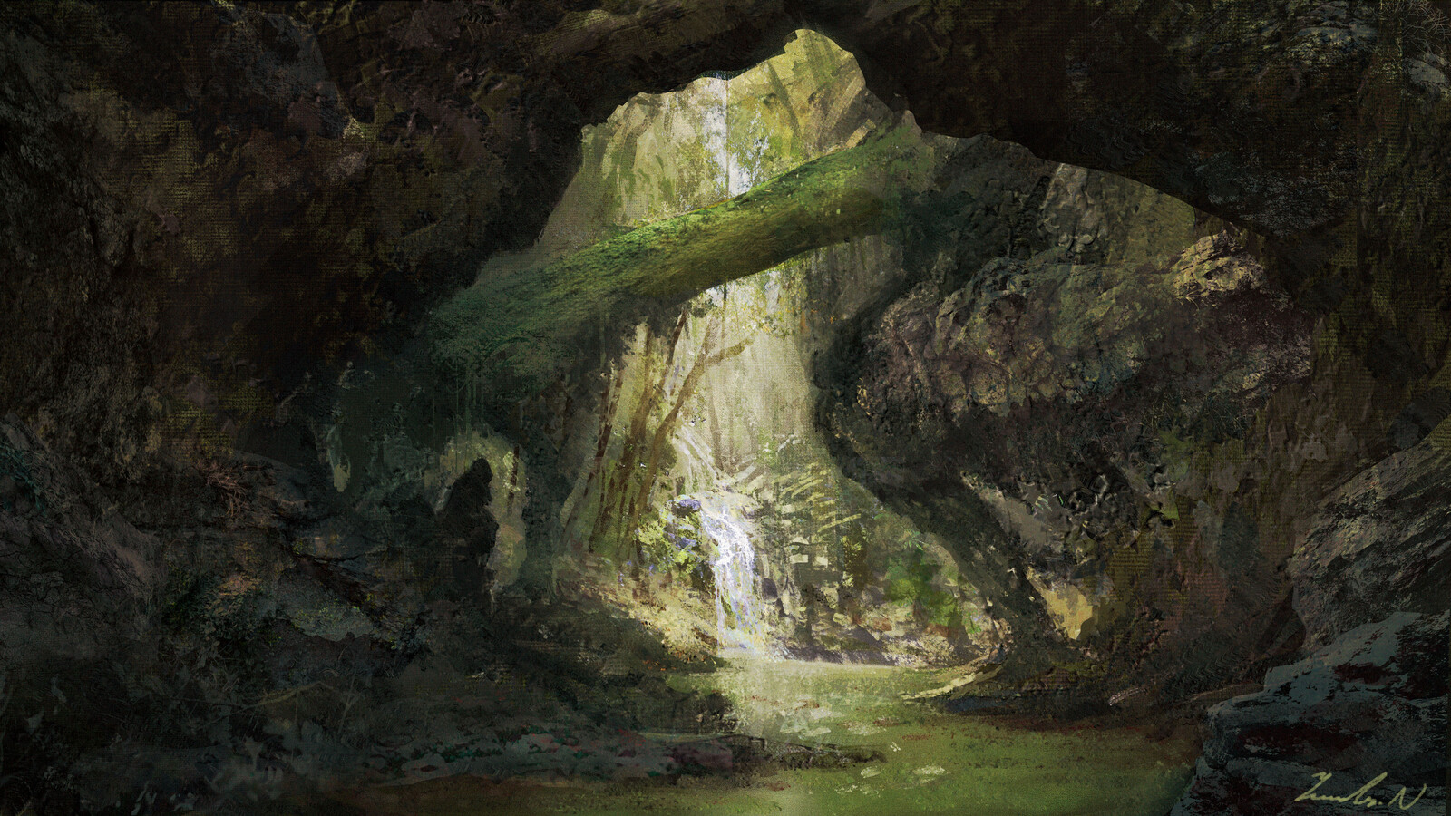 Fantasy landscape making movie 4k