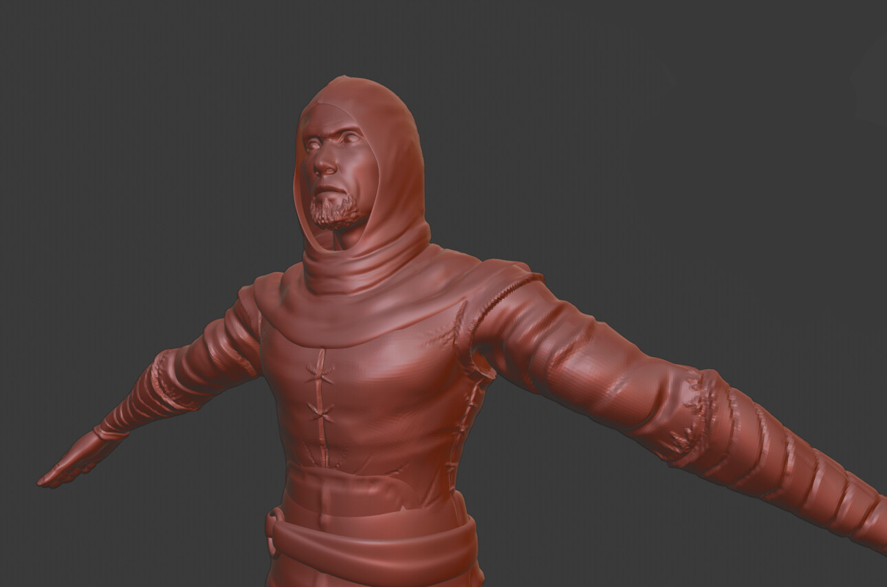 Assassin high-poly sculpt