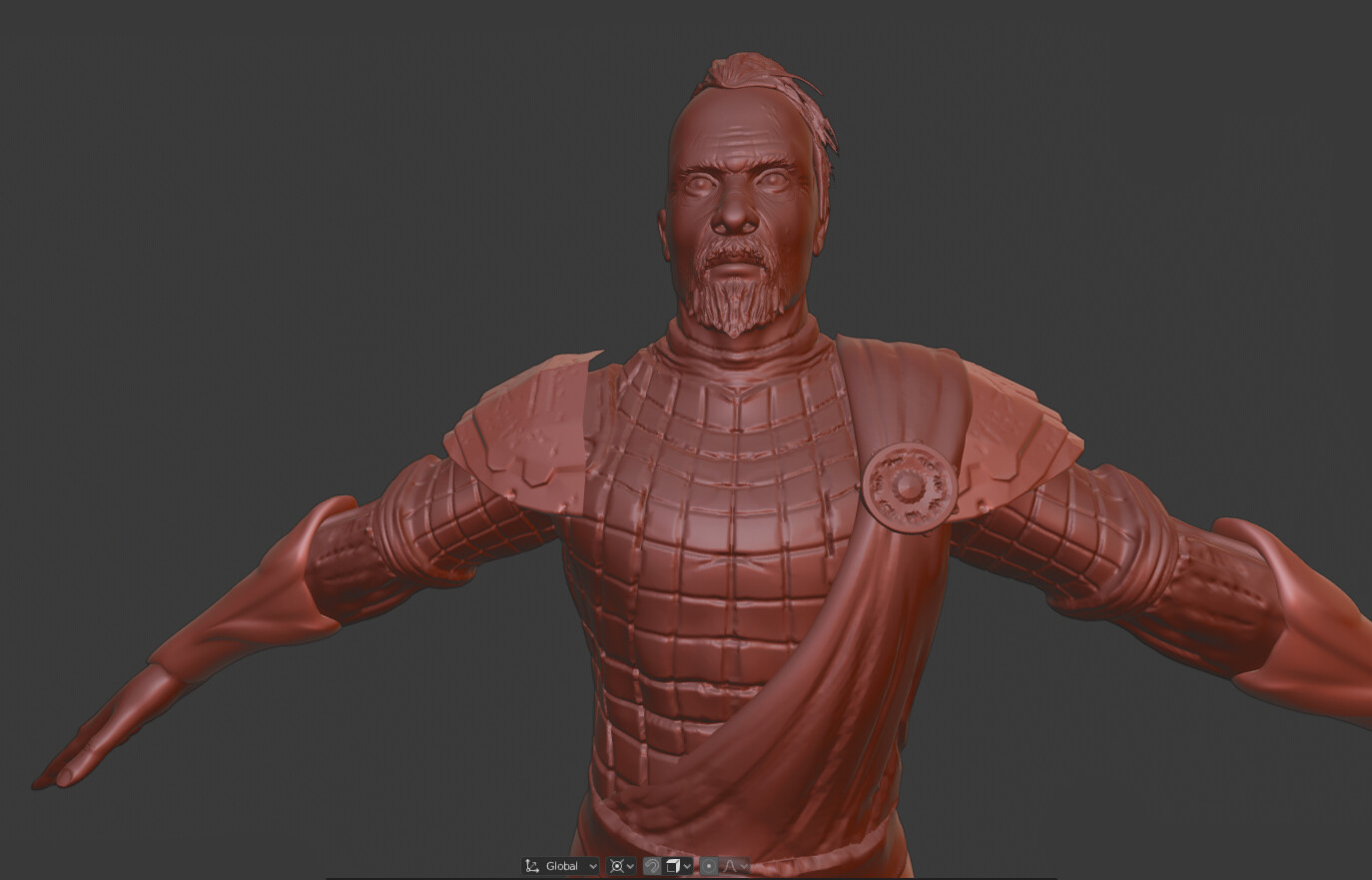 Warrior high-poly sculpt