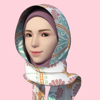 Alvin lutfianda hijab model 3 samping34