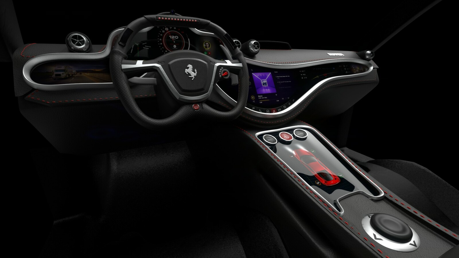 Ferrari Dashboard Design Concept