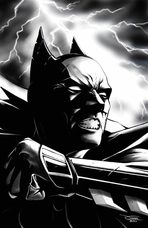 Donny d tran batman lightning clouds