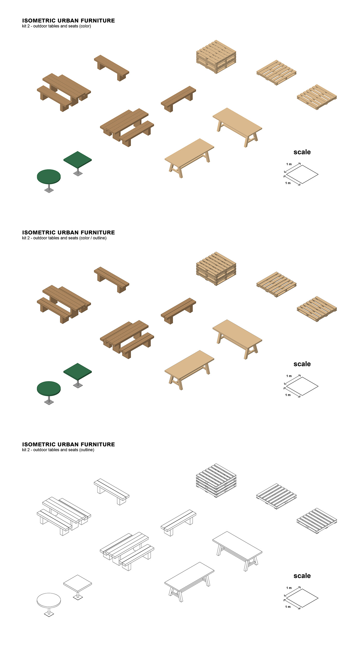 kit 2 - outdoor tables and seats