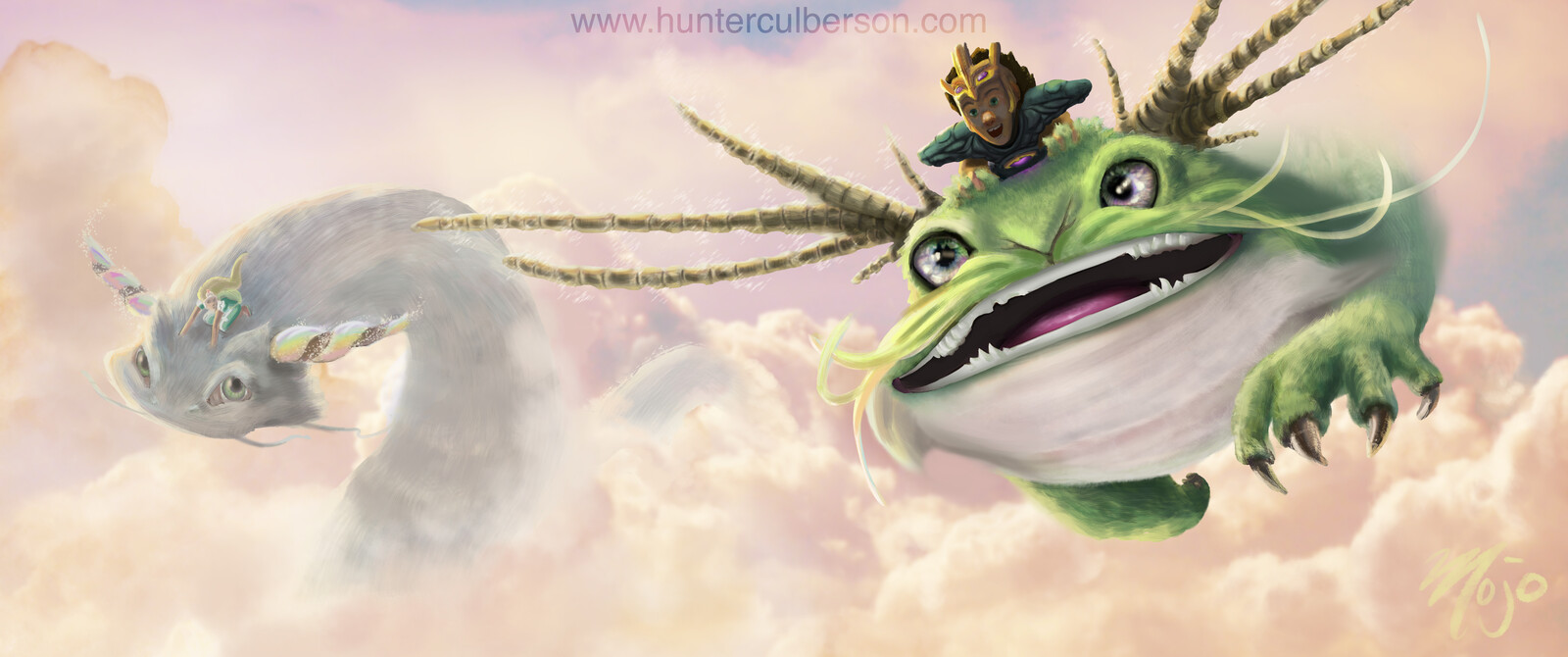 Riding Fluffy Magical Dragons