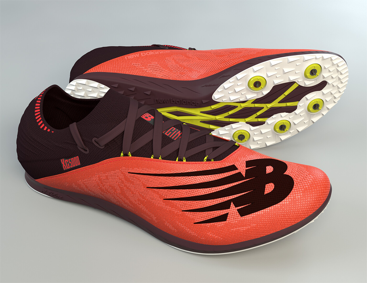 New Balance XC5Kv5 Shoe.  Made in Modo, is all quads and was rendered in Modo.  The tooling/sole is from a CAD file.