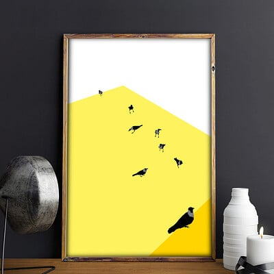Rajesh r sawant crows of mumbai framed 2
