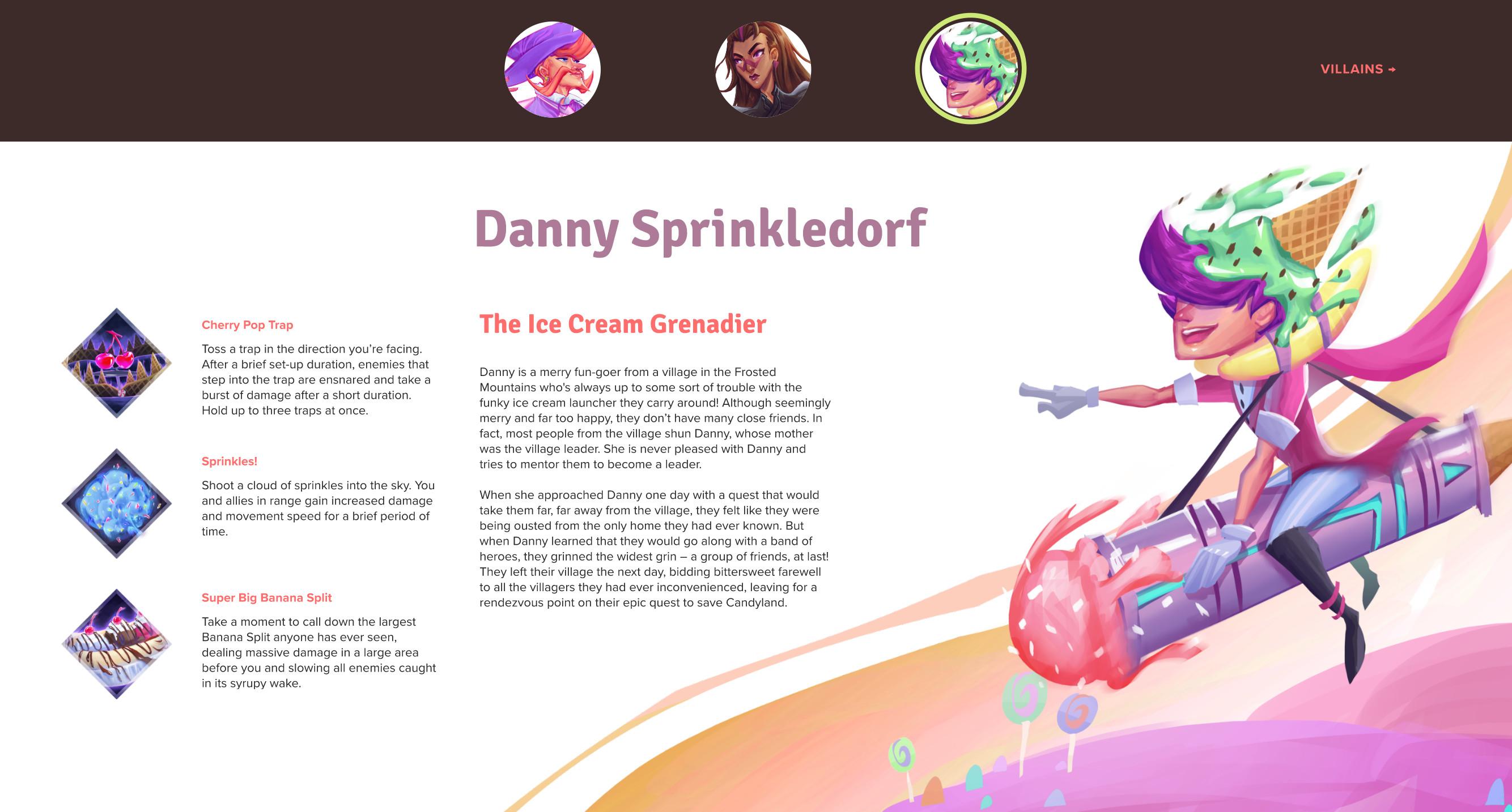 Character page screenshot 1