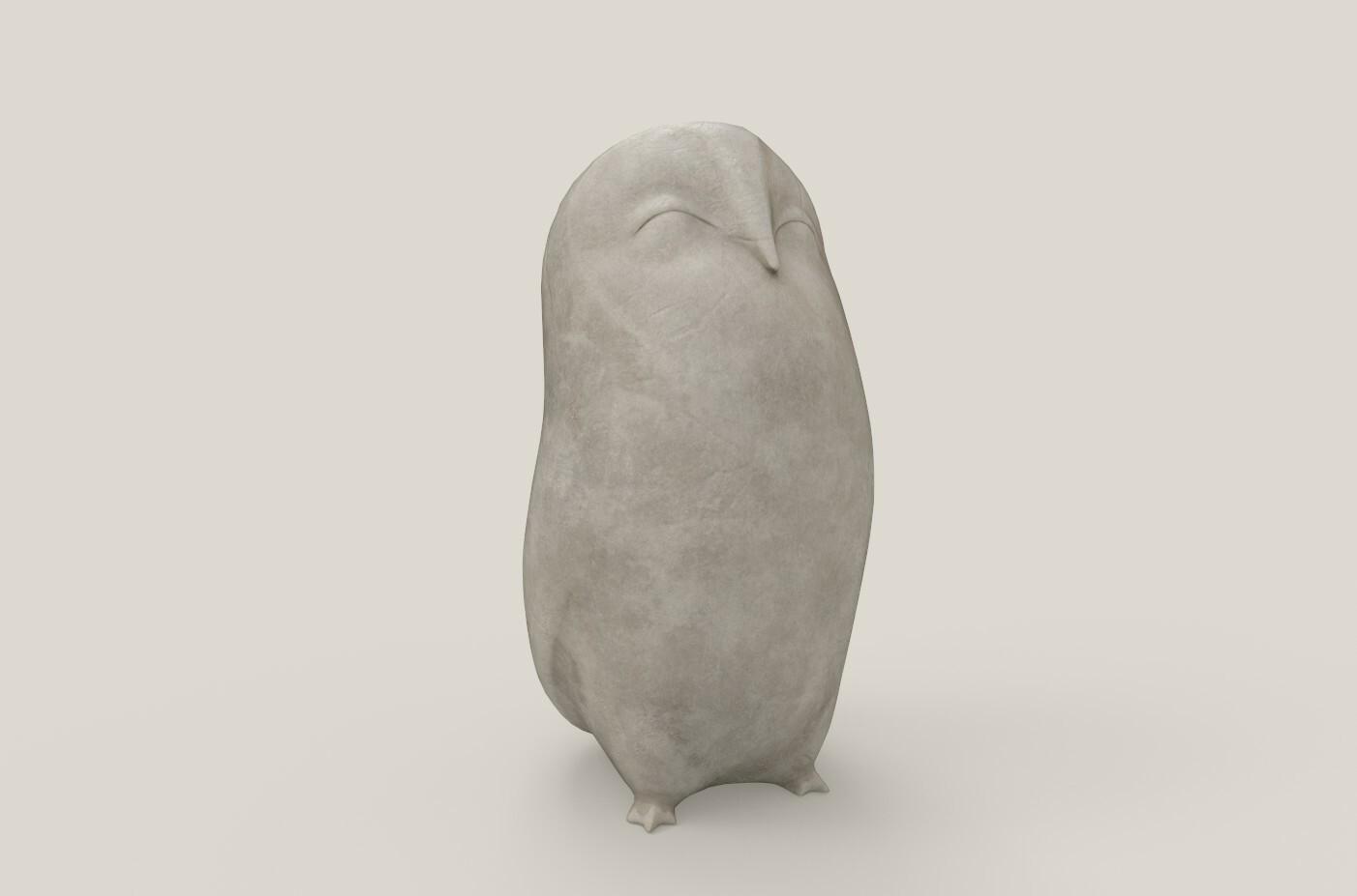 Owl Figurine Archimedes Render