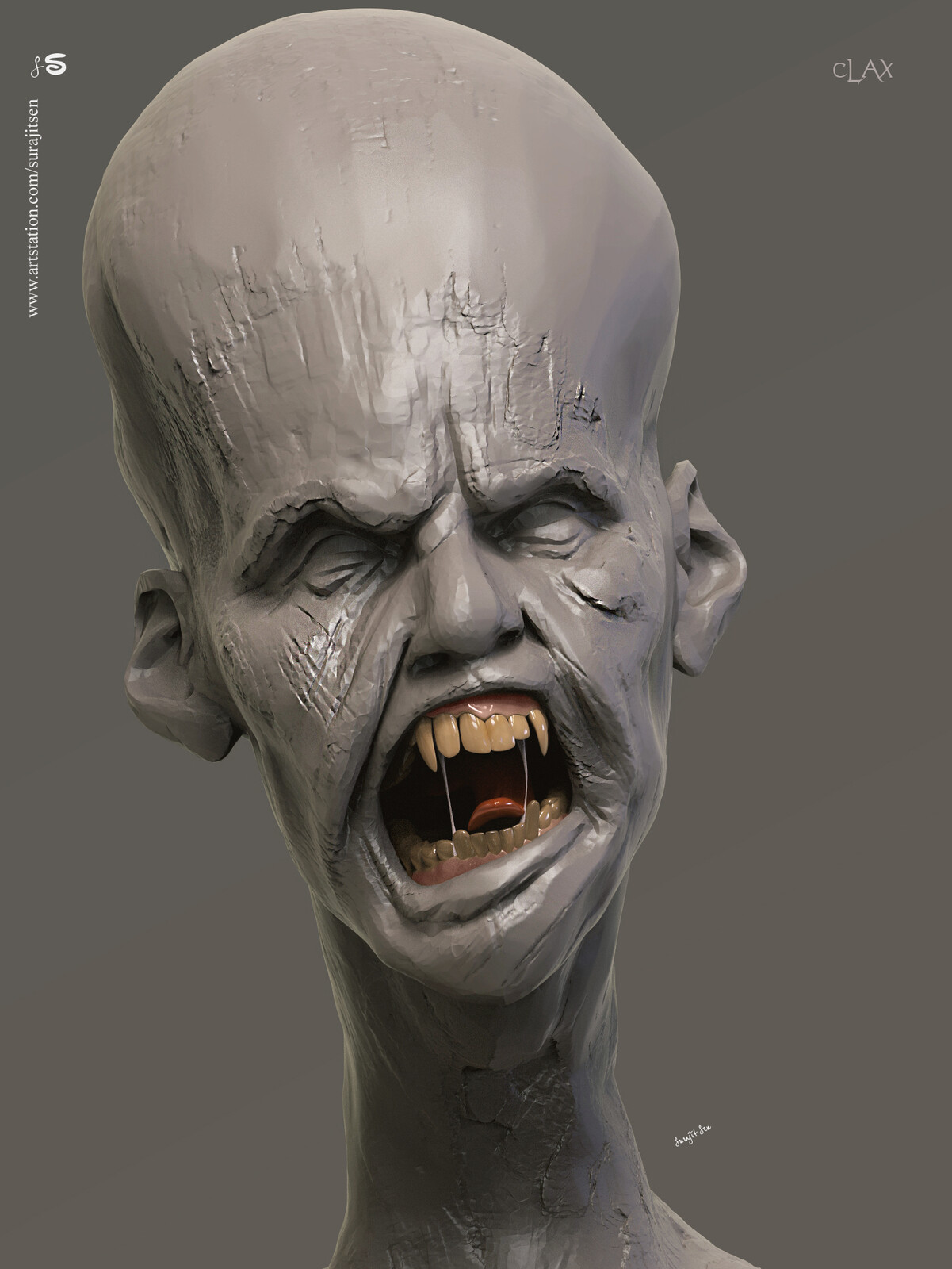 Clax One of my concept Creature. Digital Sculpture. Tried to make a form of my thoughts.....