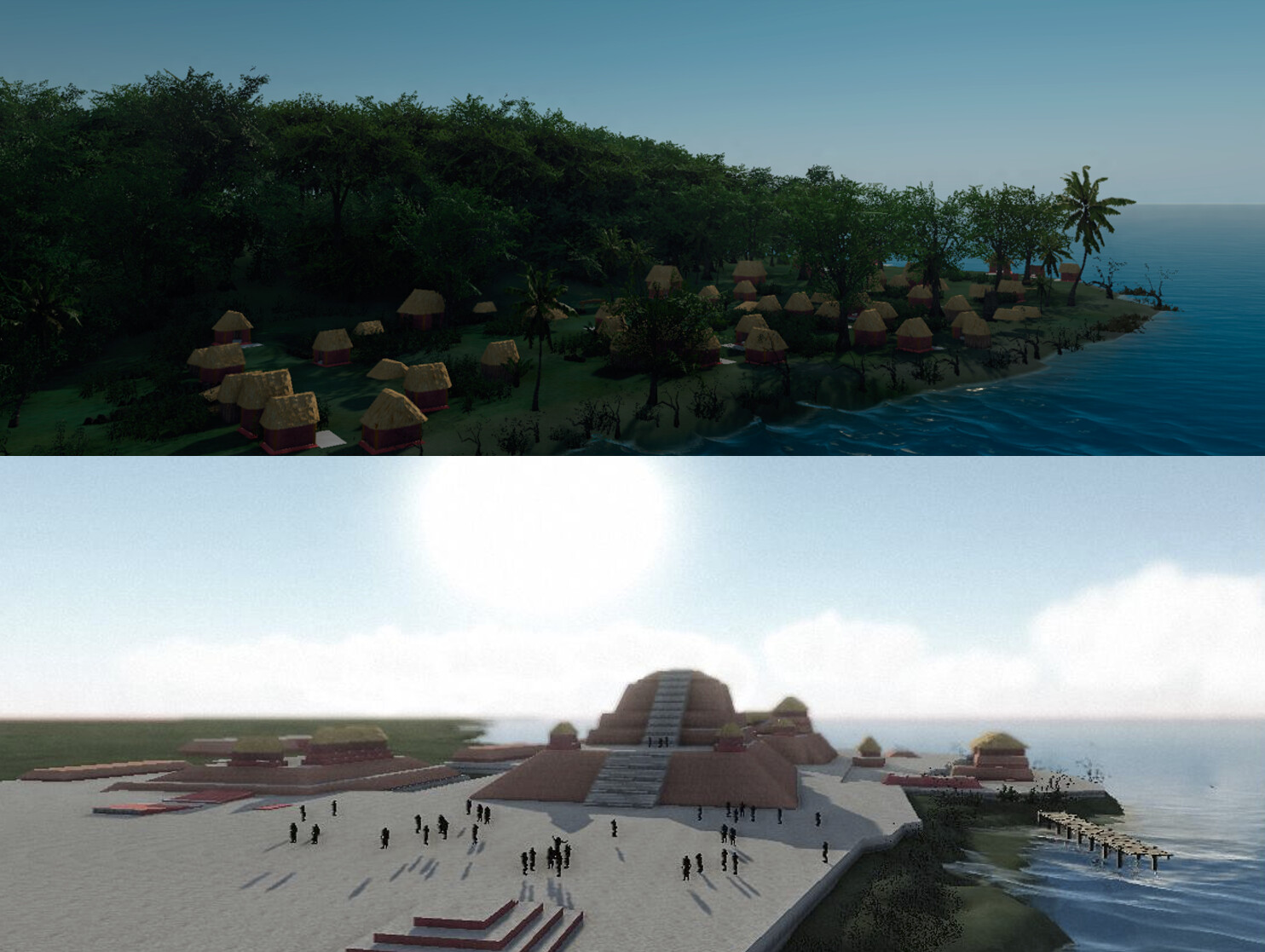 "Structure 5C-2nd with CryEngine 2.0 - 2014 Exhibit ""Maya City by the Sea"" at the Florida Museum of Natural History"