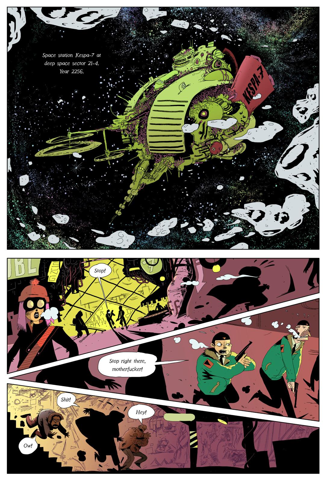 Comic Book Colouring - Hannu Kesola Pitch