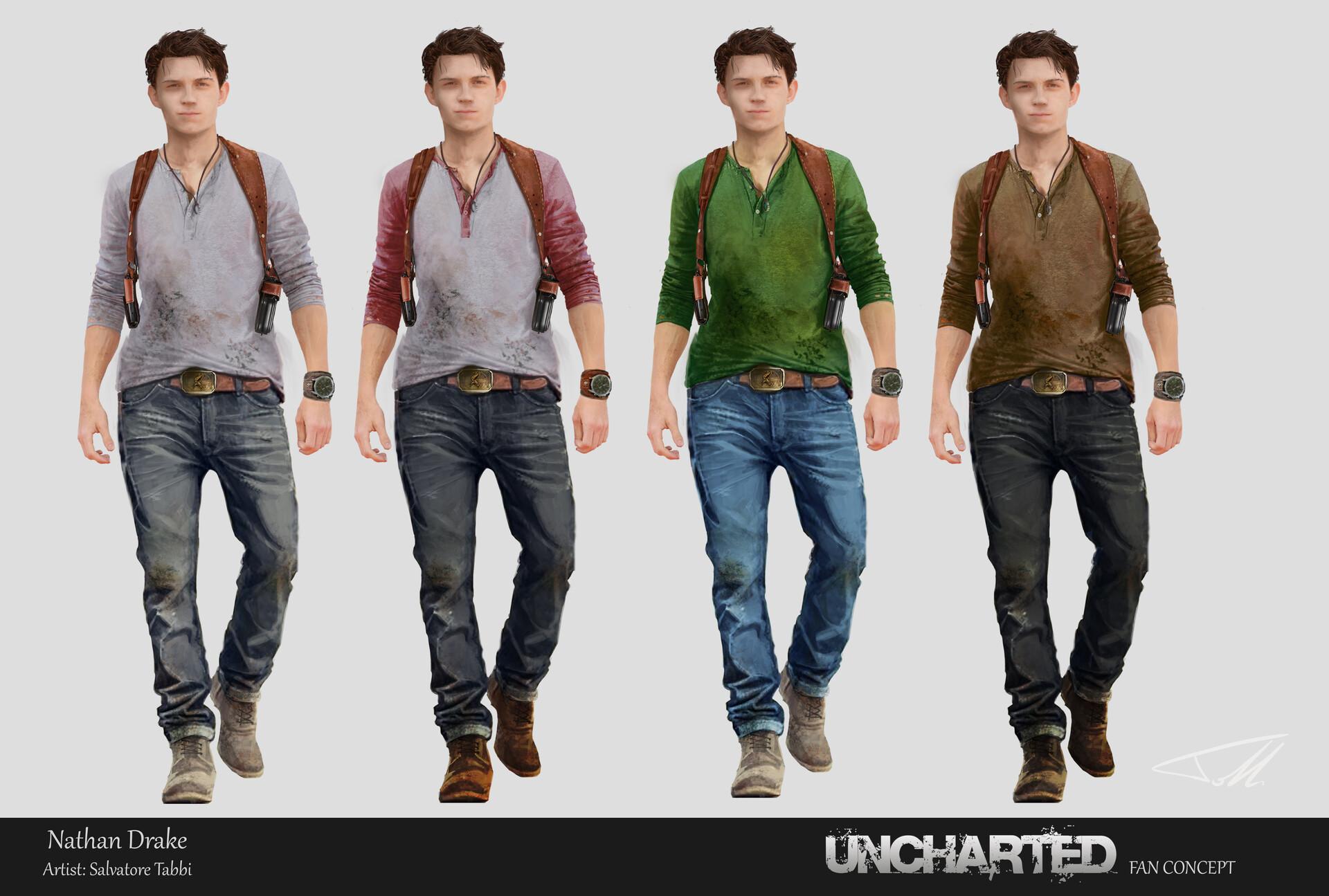 Artstation Nathan Drake Uncharted Movie Fan Concept Salvatore Tabbi
