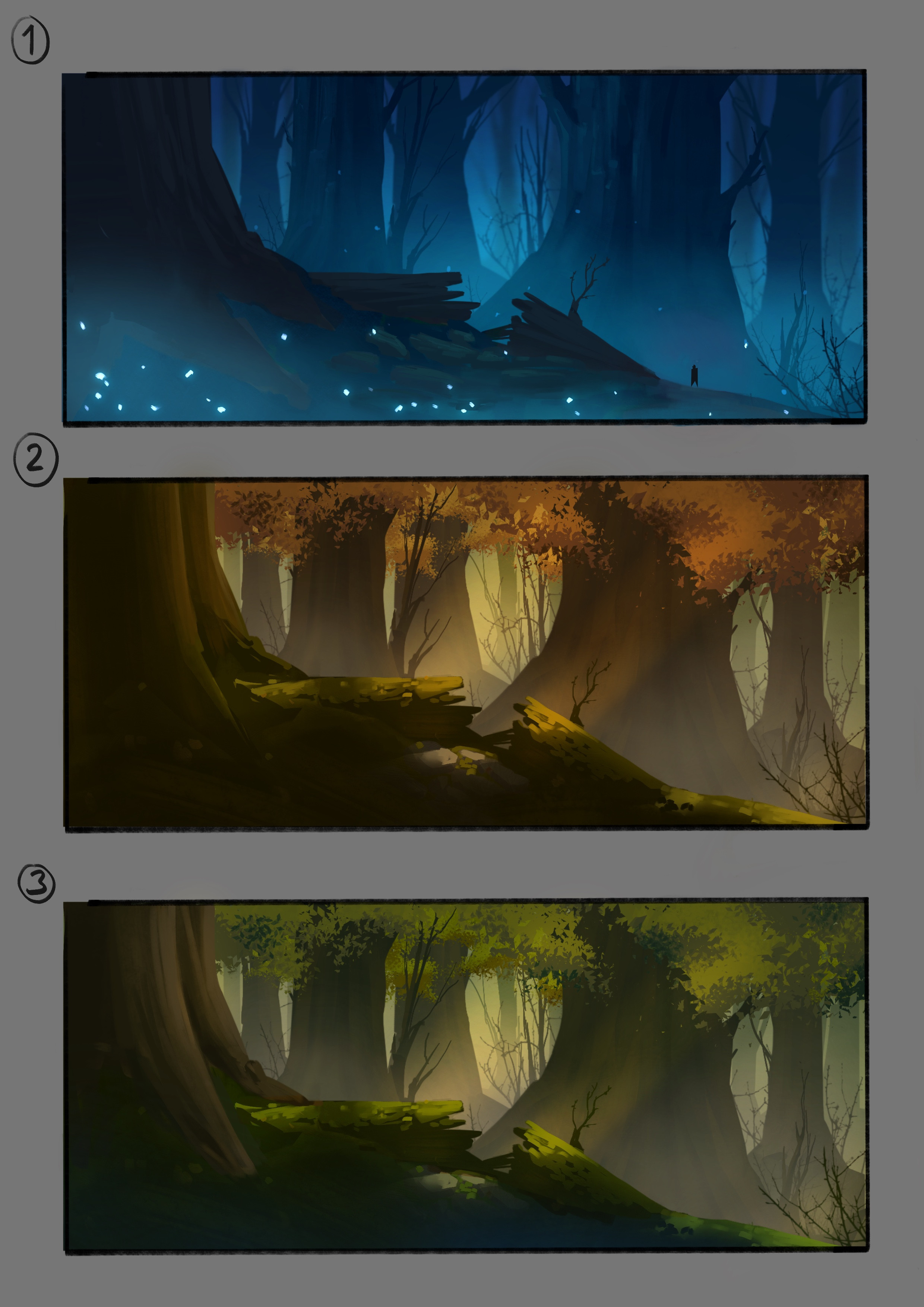 Color compositions for the forest level