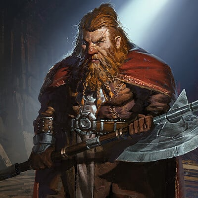 Greg rutkowski torbran thane of red fell 1500
