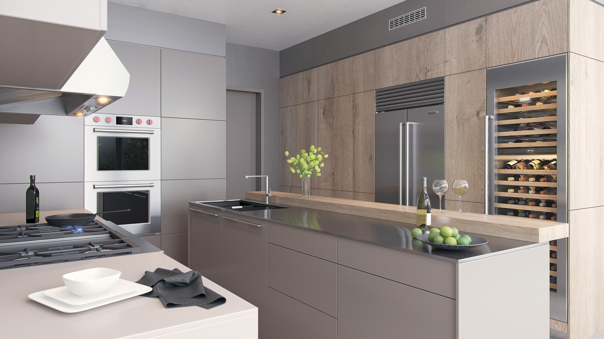 Artstation Subzero Wolf Kitchen Design Nenad Jovanic