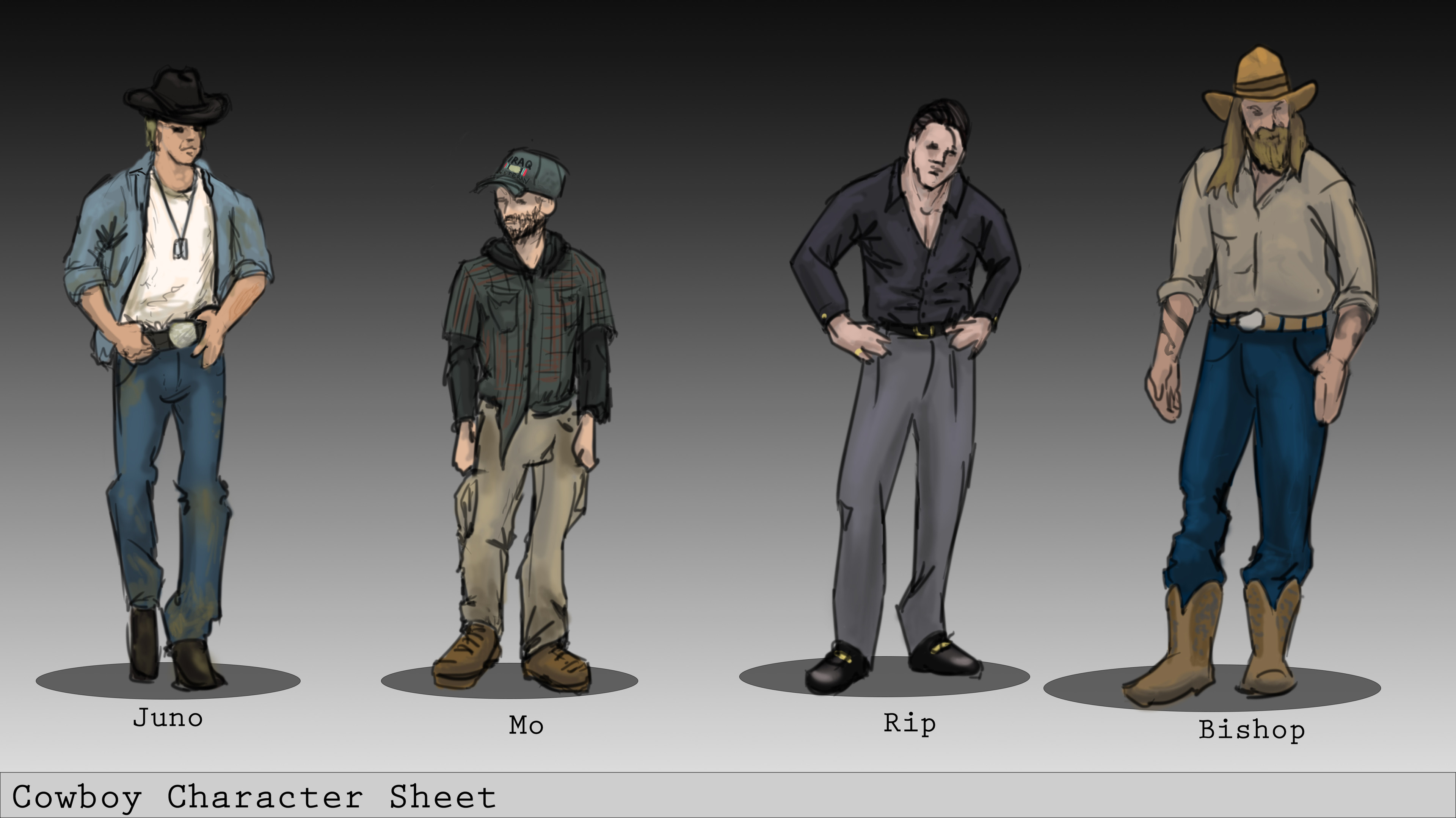 Character concepts for Cowboy