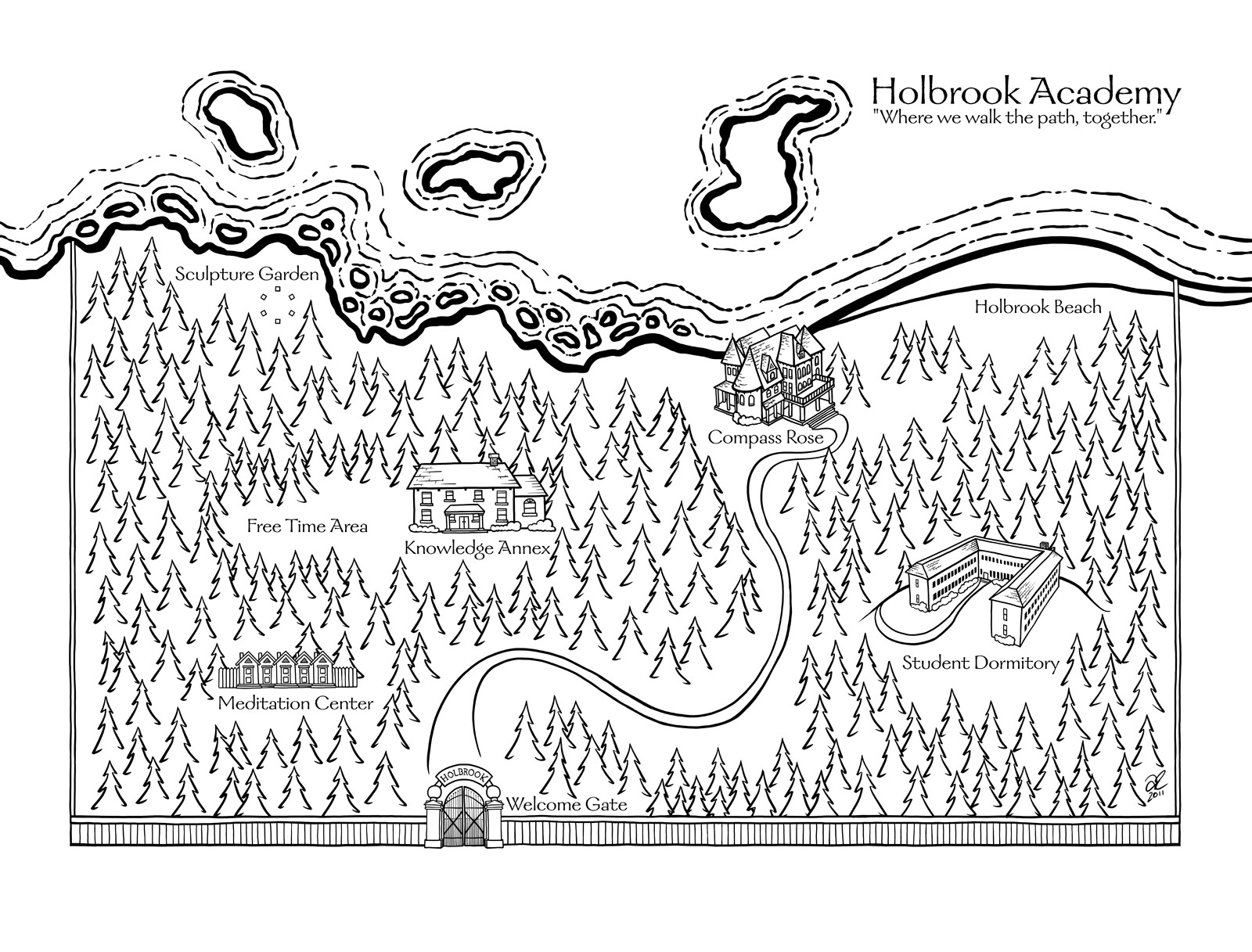 Holbrook Academy Campus Map