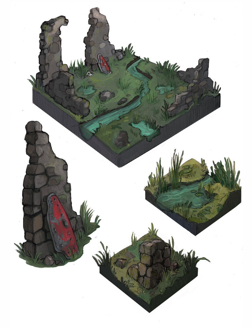 swamp battleground ruins
