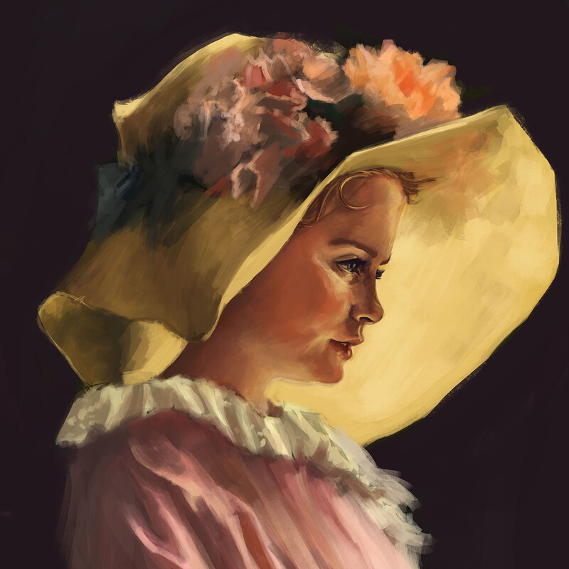The yellow dress - Master study