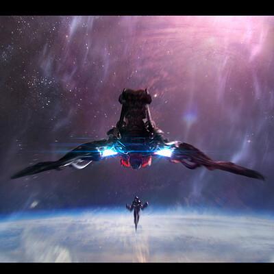 Rafater rafael teruel space ship 4 cinematic look by rafater