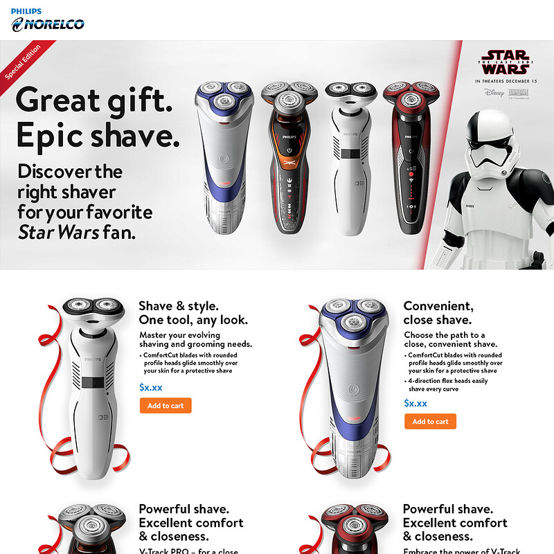 Philips Norelco Star Wars Shavers