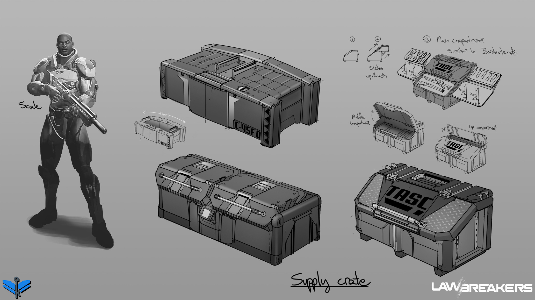 Supply crate prop concepts