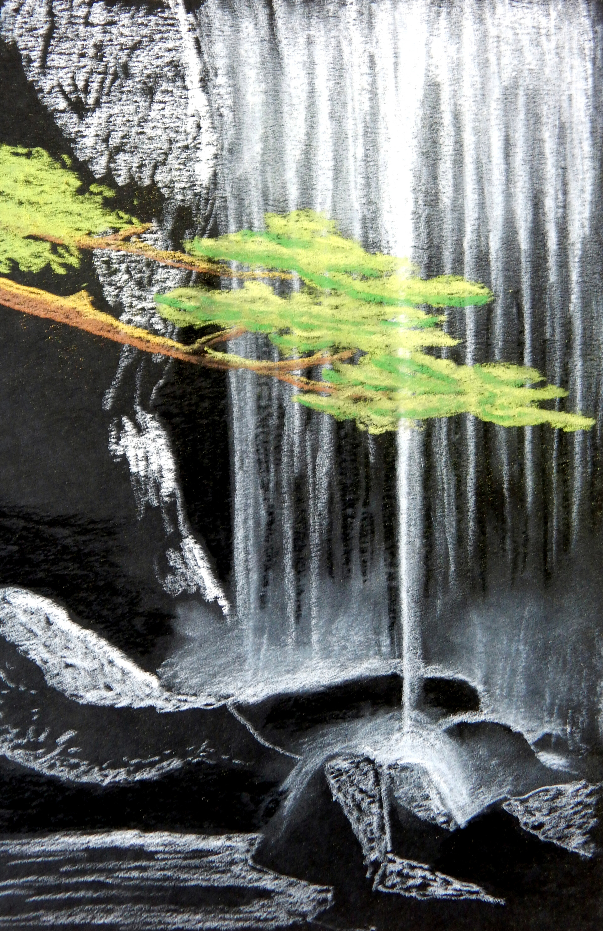 Rohvannyn shaw chalk waterfall