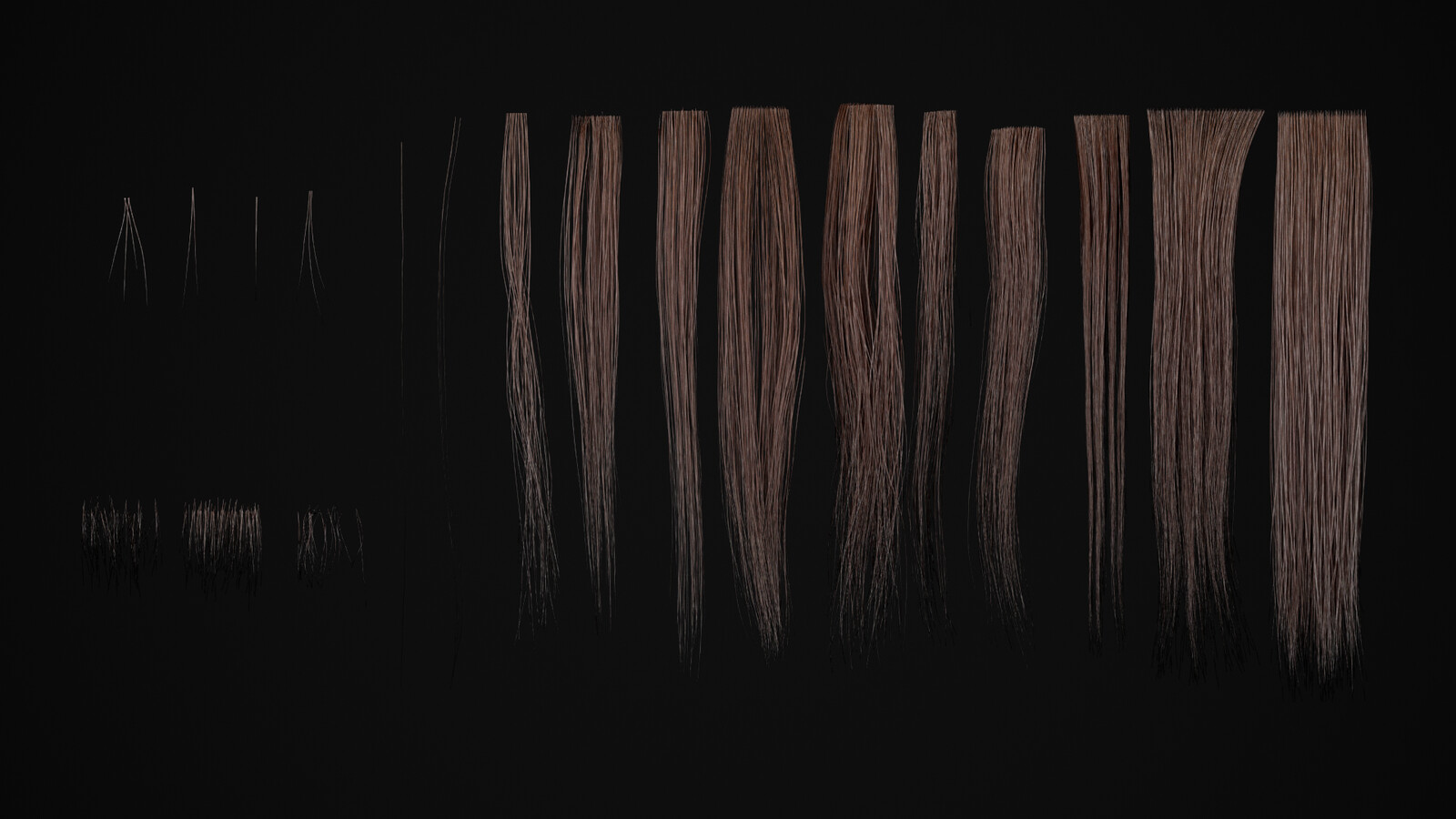Hair cards used.