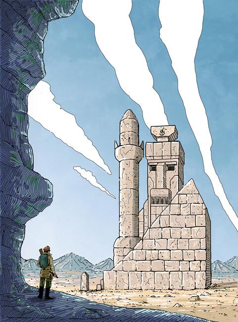 The lost world illustration sci-fi book cover illustration