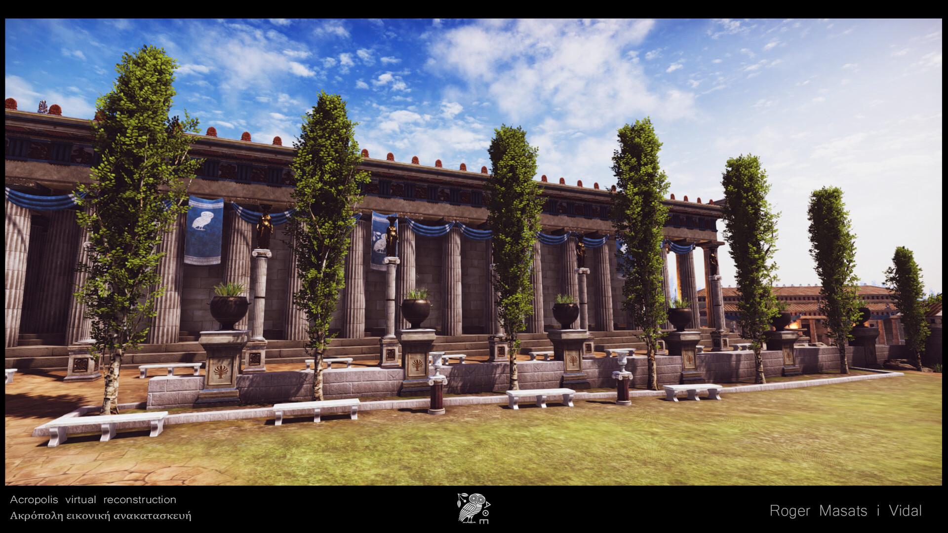 Athena Parthenos colonade