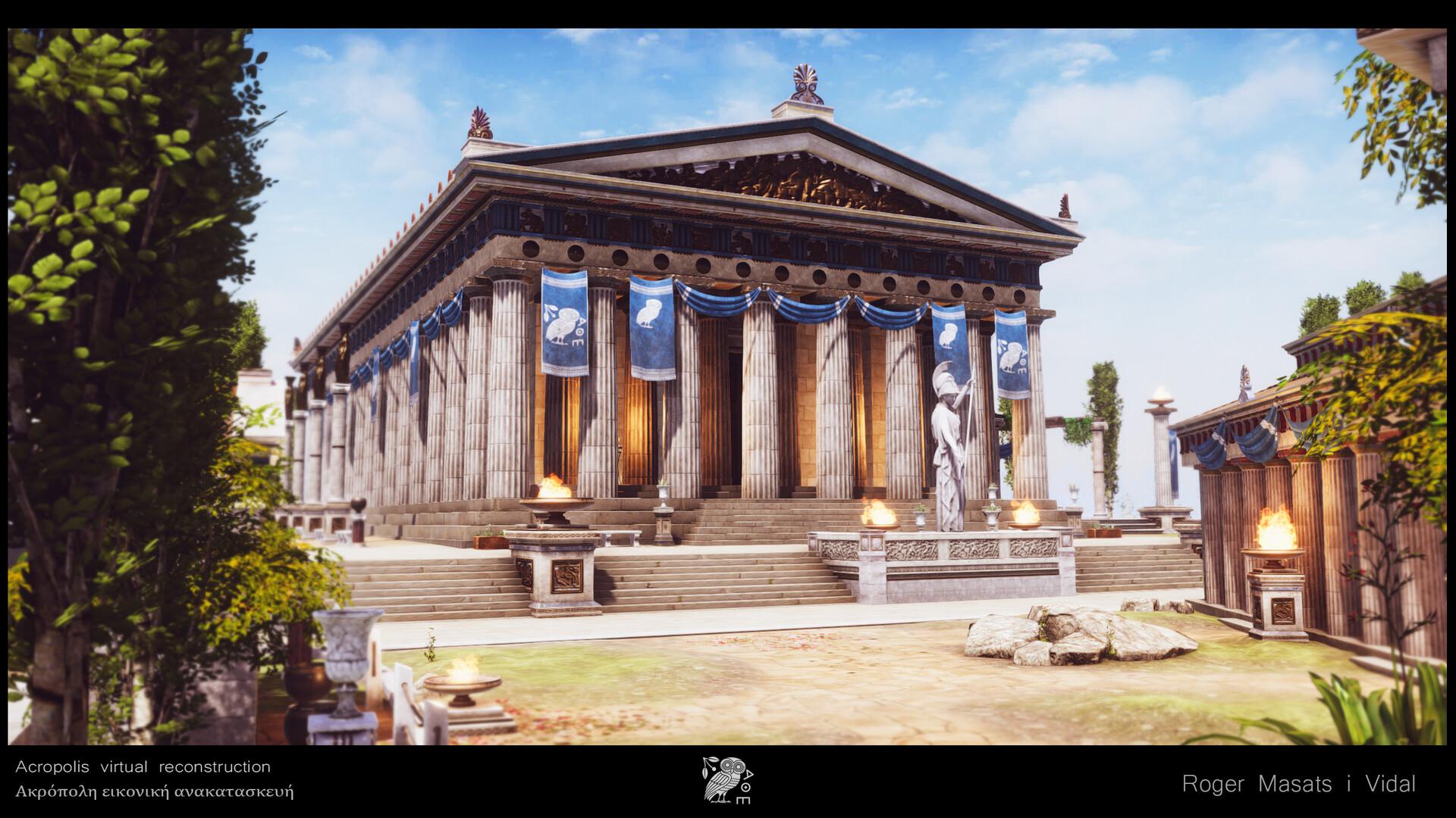 Athena Parthenos temple