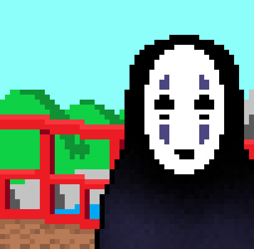 Artstation No Face Spirited Away Pixel Art Nirah