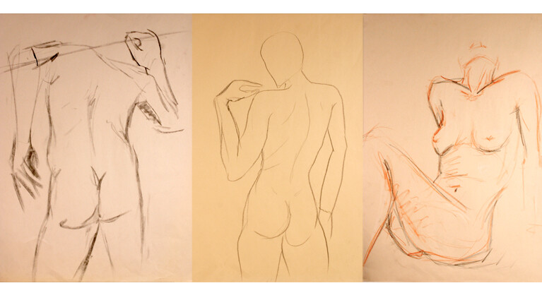 These studies were made between 2008 and 2012 with graphite, pastel, conté and charcoal on different type of papers.