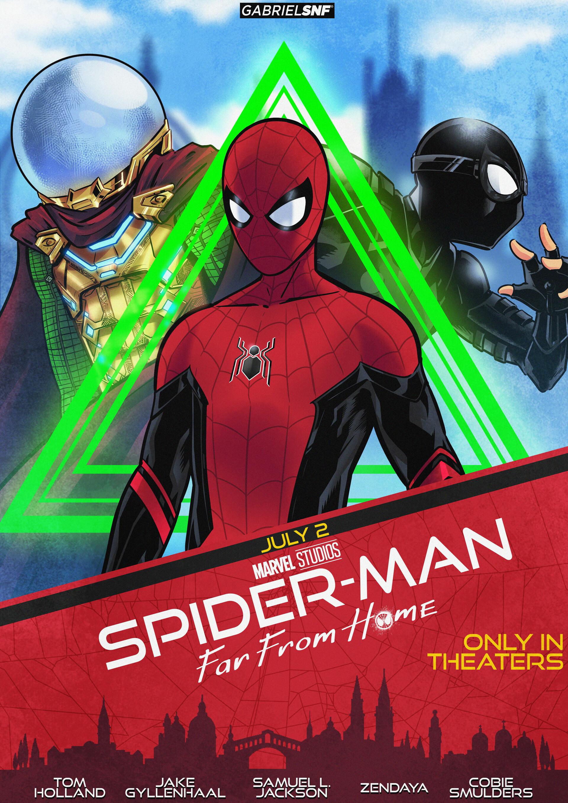Artstation Spider Man Movie Poster Gabriel Ferreira