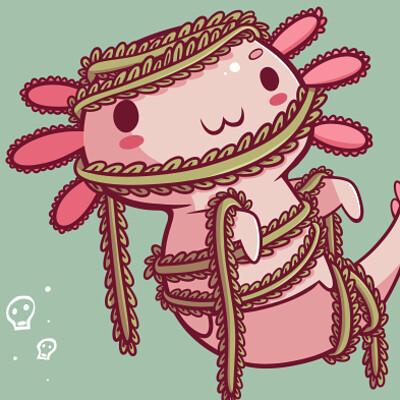 Halloween Axolotl - The Mummy