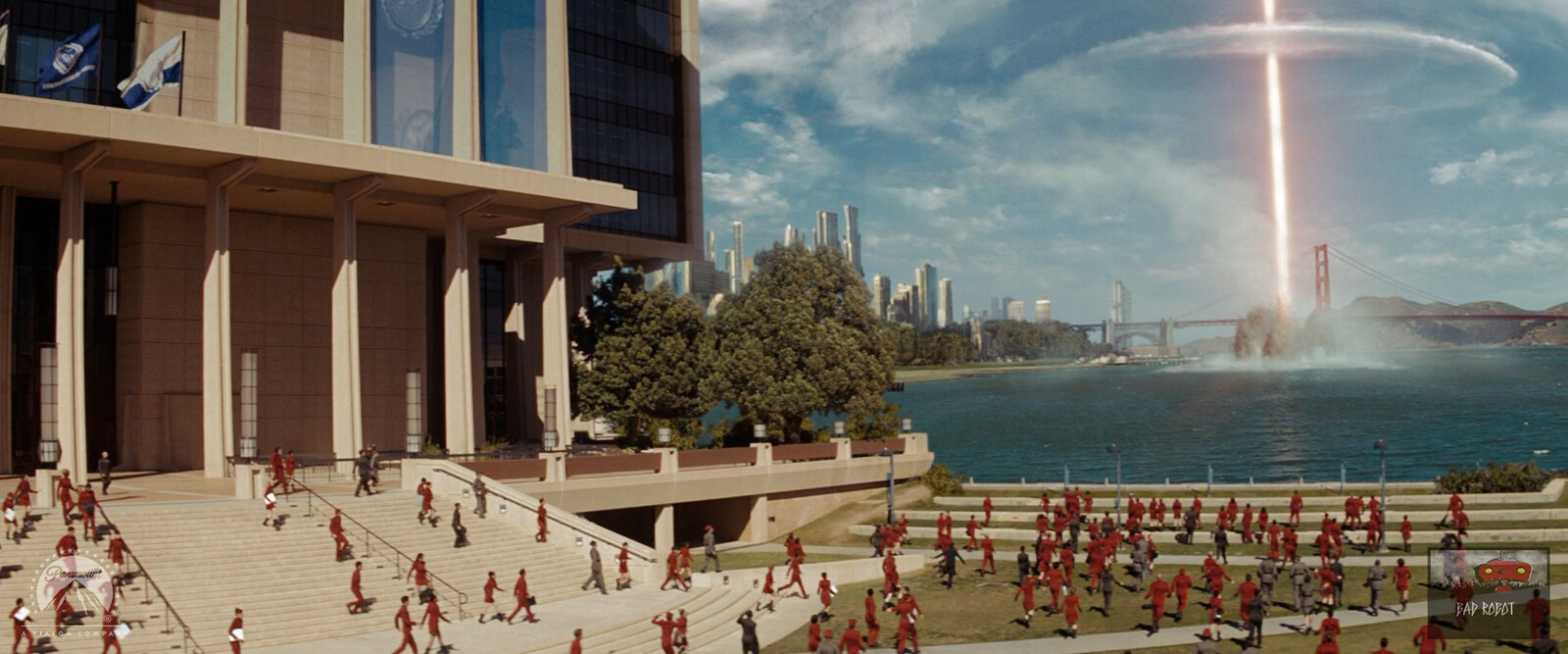 Starfleet Federation Building Set Extension. 2.5D projections with flag simulations.