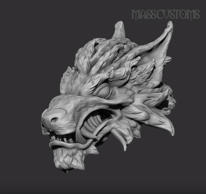 1//6 Scale Ferocious Werewolf head White eyes wolf For 12'' Action Figure