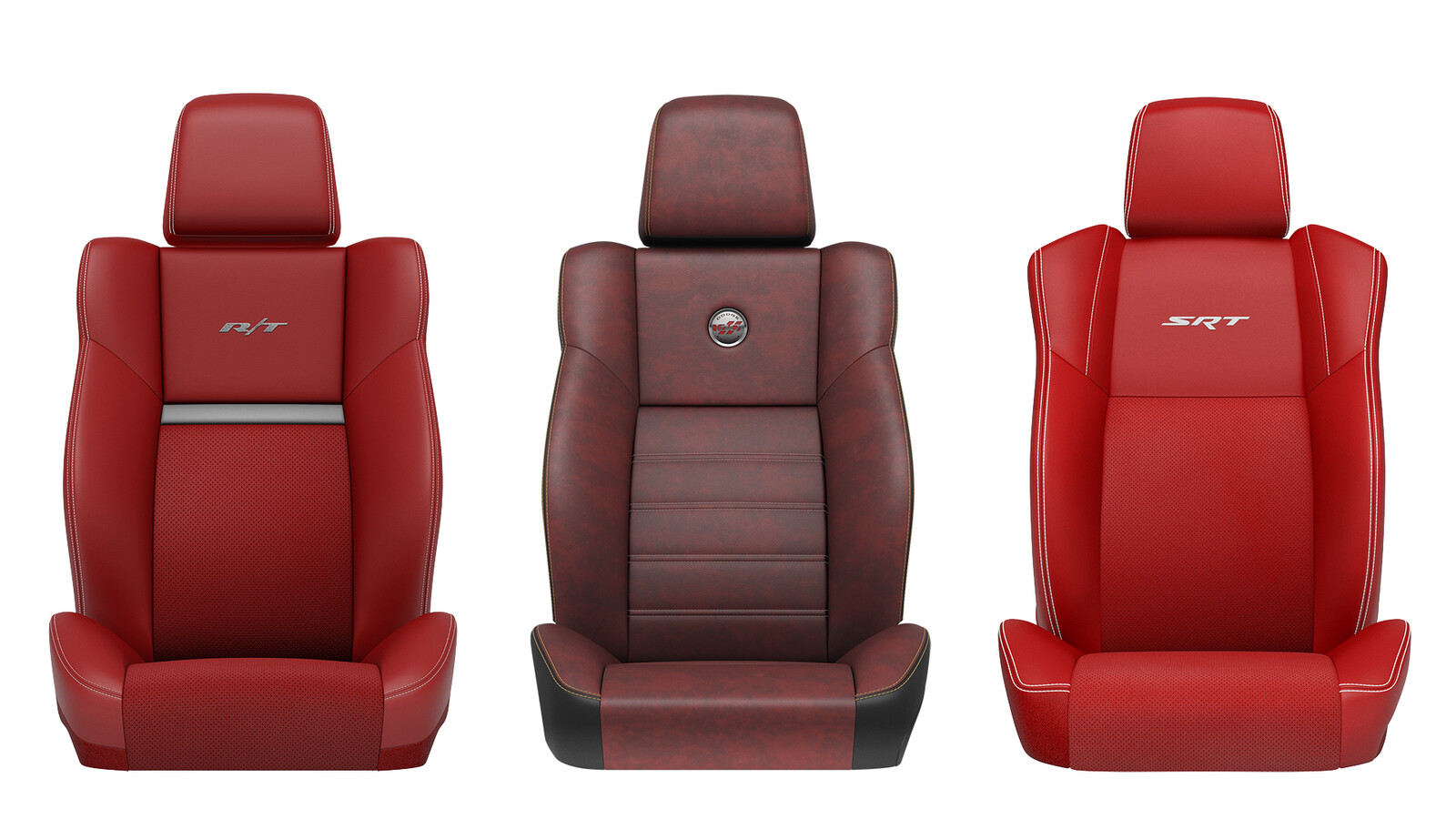 Dodge Challenger Seats Tasks: Materials, Lighting, & Retouching