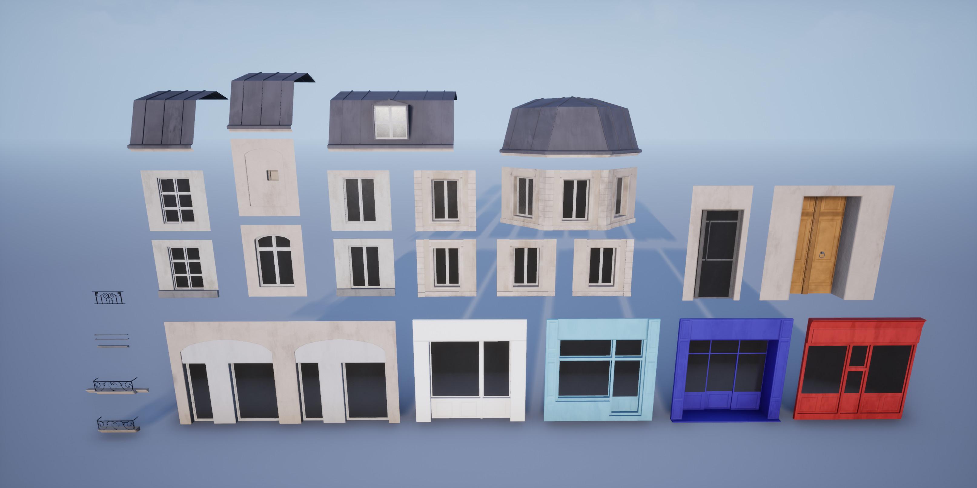 Modular building pieces